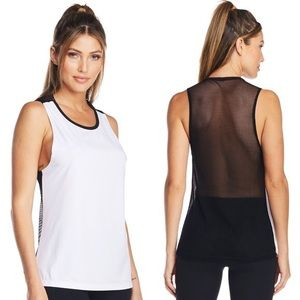 Lukka Lux White & Black Backless Tank